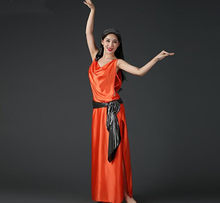 0a7eedfac Cheap New Baladi Shaabi Saidi Show Costume 4 Piece Set Bellydance Oriental  Dancer Costume Robe Hair Band Belt Orange White Pink