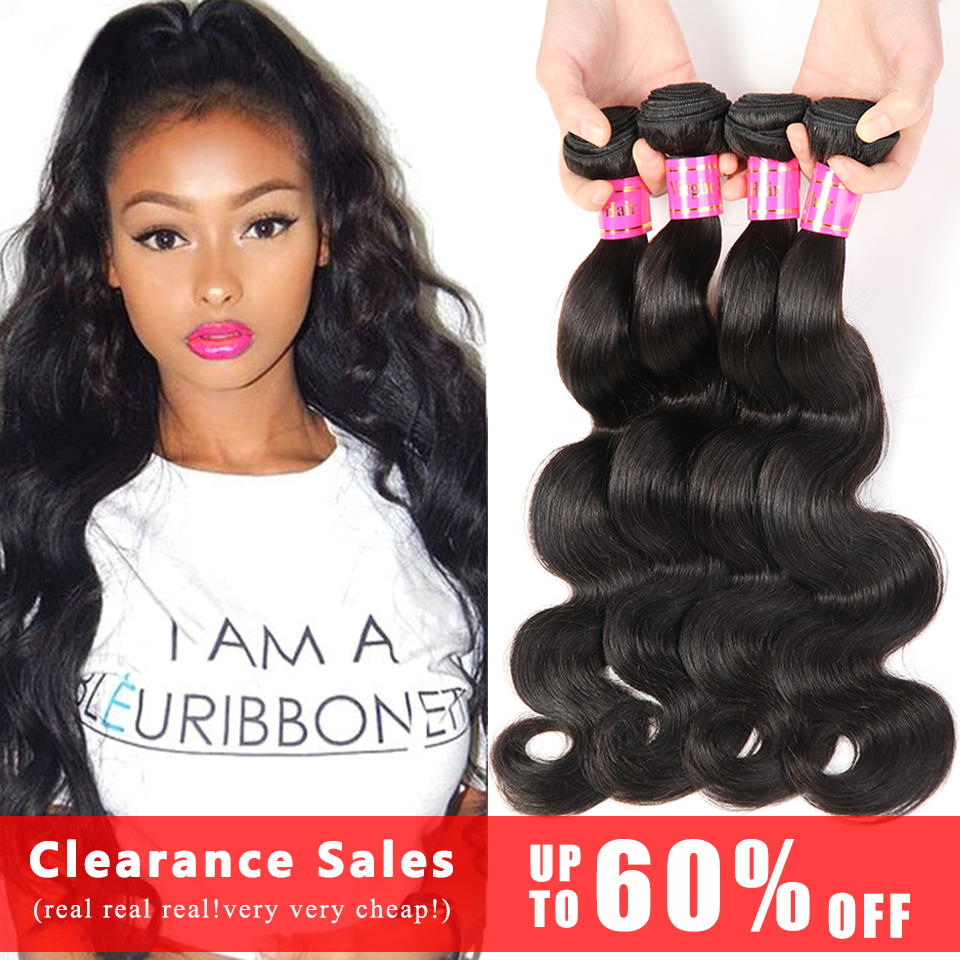 Today Deal Brazilian Virgin Hair 4 Bundles Body Wave Cheap