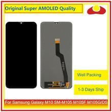 """מקורי 6.22 """"עבור Samsung Galaxy M10 SM M105 M105F M105G/DS LCD תצוגה עם מסך מגע Digitizer פנל Pantalla מלא"""