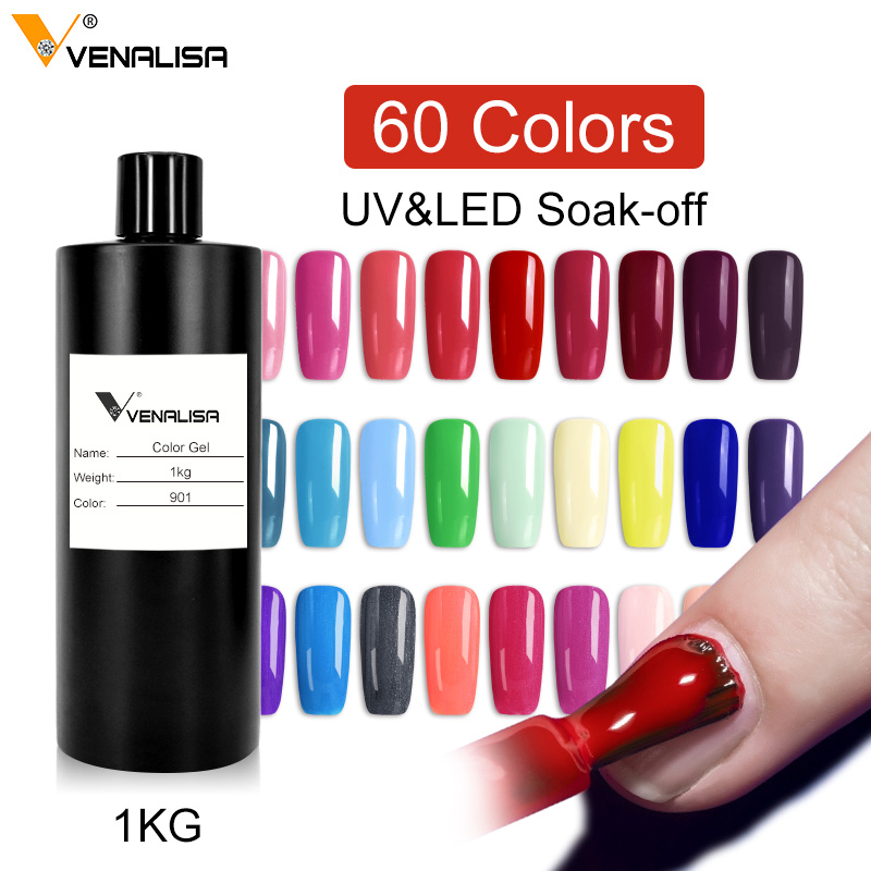 Nail Art Design Manicure Venalisa 60 Colors 1000Ml Soak Off Enamel Gel Polish UV Gel Nail