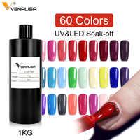 Дизайн ногтей маникюр Venalisa 60 цветов 1000 мл замачиваемый эмалированный Гель-лак УФ-гель для ногтей лак сырье