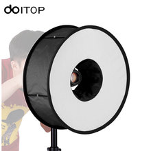 DOITOP Ring Soft box For SpeedLite Flash light 45cm Foldable Difusor Macro Shoot Soft box for Canon Nikon Nissin Metz Godox #(China)