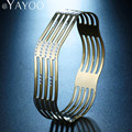 AYAYOO Fashion Gold/Silver Plated African Dubai Charm Hollow Bracelet Bangle For Wome Jewelry Romantic Wedding Gift Accessories