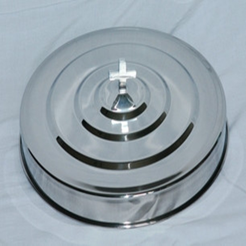 Dishes Dinner Plates Stainless Steel 3 Communion Trays With 1 Lid
