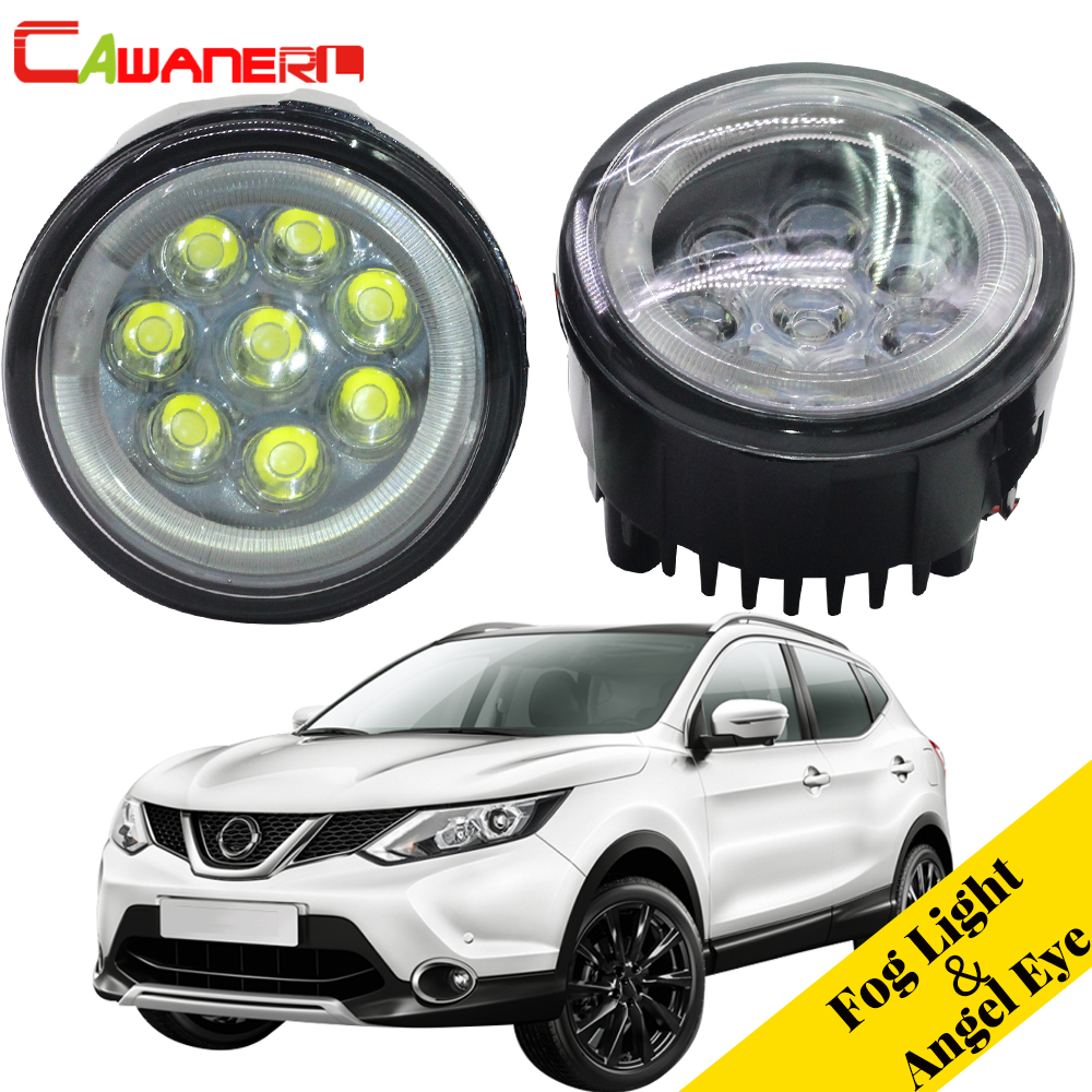 Cawanerl For Nissan Qashqai J11 J11_ Closed Off-Road Vehicle 2013- Car LED Lamp Fog Light Angel Eye Daytime Running Light DRL барьер road angel 19cm