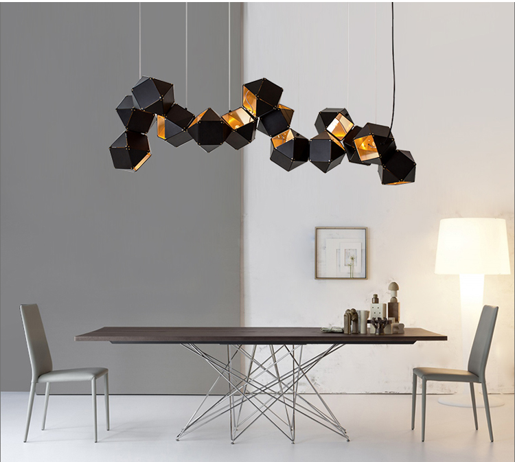 Nordic Modern Chandelier Welles Chandelier Metal Faceted