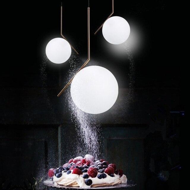 Ungdommelig Nordic Anhänger Lichter Globe Runde Glas Anhänger Lampe Ball LN-54
