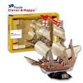2014 new clever&happy land 3d puzzle model   Mayflower adult puzzle diy paper model educational toys paper learning & education