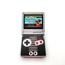 Rrefurbishedゲームボーイアドバンスsp gba spコンソールAGS 101 バックライトバックライトスクリーンファミコン版コンソール