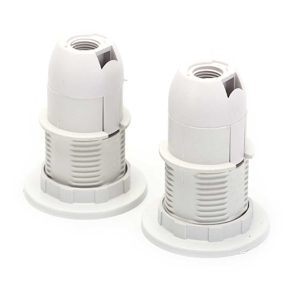 2Pcs x E14 Light Bulb Lamp Holder Screw E14 Base LED Light Lamp Bulb Holder Adapter Socket lampholder Pendant 250V 2A