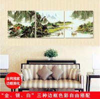 landscape painting the living room special offer triple 50150 / three beautiful rivers and mountains of a country.