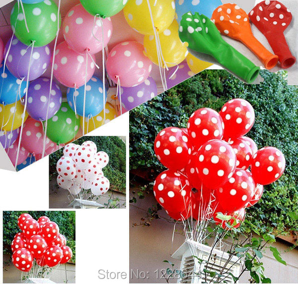 Full printing polka dots wedding decoration helium balloons best full printing polka dots wedding decoration helium balloons best price 100pcslot 12 inches factory junglespirit Gallery
