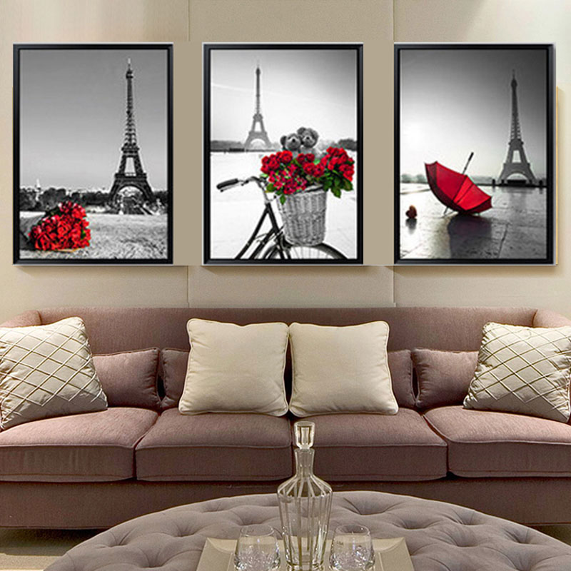New Paris Tower, Diamond Painting Cross Stitch,Diamond Painting,DIY Diamond Mosaic Kit,Living Room Modern Landscape Paintings