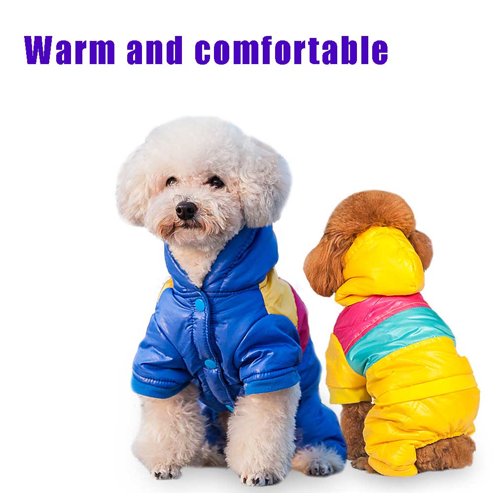 Hot Winter Warm Small Dog Pet Clothes jacket cool colorful Padded Hoodie cloth skiing suit Jumpsuit winter Chihuahua cloth