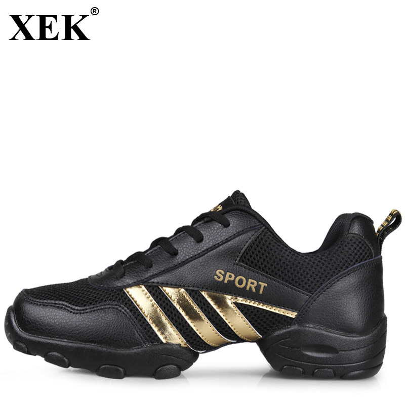 XEK 2018 Dance Shoes Mesh Breathable Soft Gym Sneakers Modern Salsa Jazz Majoring Dance Sneakers Male Sports Workout Men  JH180