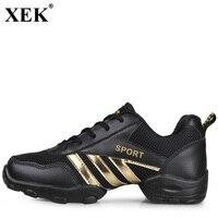XEK 2018 Dance Shoes Mesh Breathable Soft Gym Sneakers Modern Salsa Jazz Majoring Dance Sneakers Male Sports Workout Men JH180