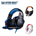 Kotion each g2000 gaming headset estéreo con cable de auriculares de alta fidelidad con led de cancelación de ruido auriculares con micrófono para la computadora