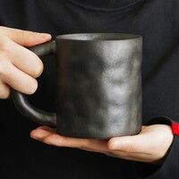 Simple Ceramic Creative Mug Ocean Wind Blue Small Fresh Coffee Cup Breakfast Milk Cup Cover Spoon