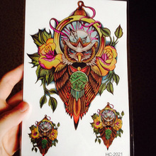 Gift Sticker Beautiful Owl Design Waterproof Temporary Tattoo Stickers Men Women Girl Body Art