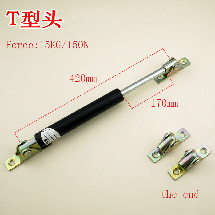 Free shipping  420mm central distance, 170 mm stroke, pneumatic Auto Gas Spring, Lift Prop Gas Spring Damper kitchen cabinet door lift pneumatic support hydraulic 420mm central distance 170mm strok gas spring stay for wood box