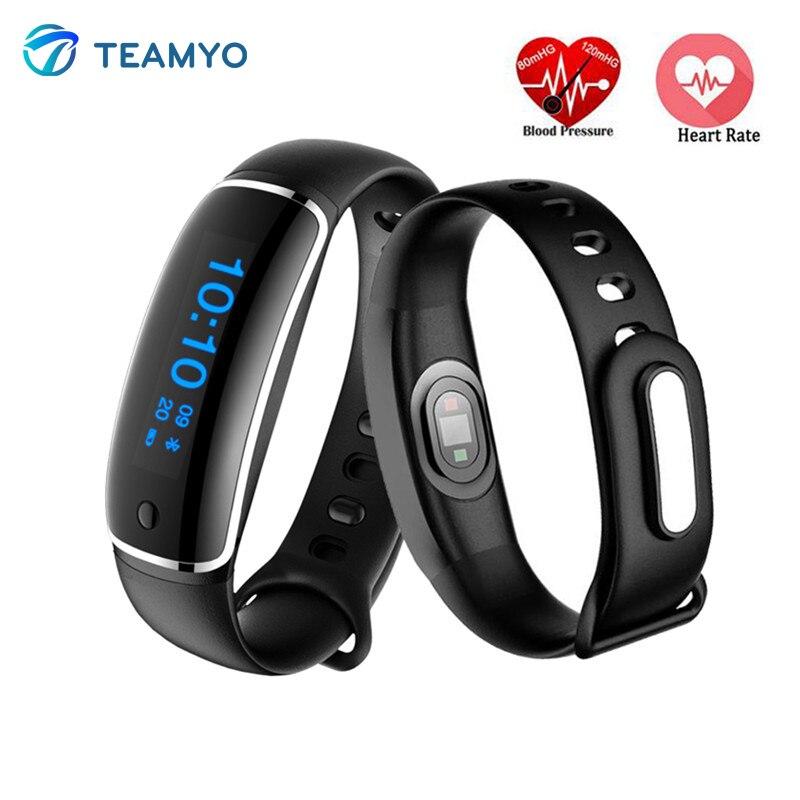 Teamyo V08 Smart bracelet heart rate monitorar cardiaco Watch blood pressure Fitness Tracker smart wristband IP67