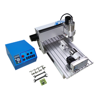 4 axis cnc router 3020V 800W water cooled spindle metal drilling machine with cutter collet clamp vise  kits