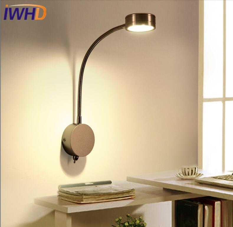 IWHD Moderne Applique Murale Lampe De Fer LED Luminaires Muraux