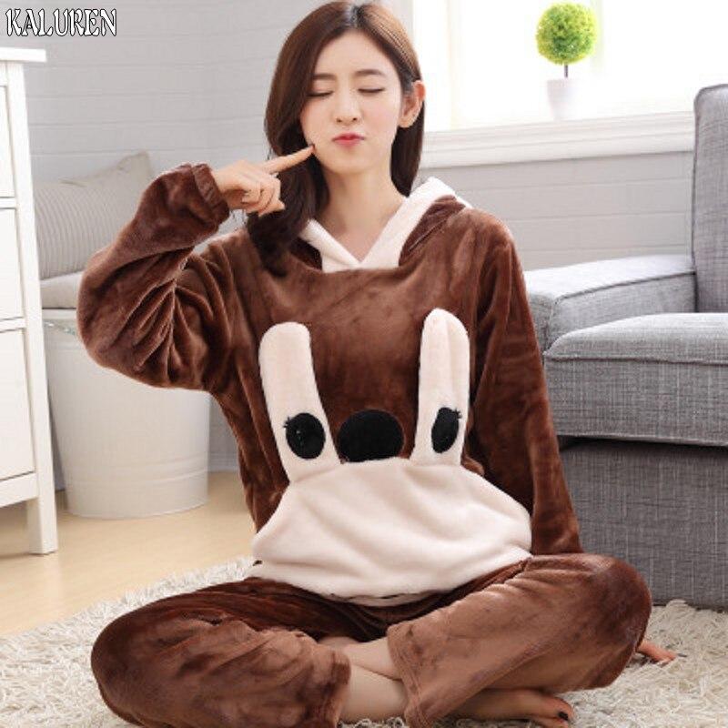 85 livraison gratuite hiver grande taille épaississement vêtements de nuit en flanelle femmes XS-5XL femme ensemble corail polaire pyjama ensembles pour 140 kg