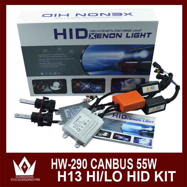 ФОТО Night Lord 55W HID xenon kit 290 12V 55W canbus Slim Ballast +35W H13 Hi/Lo HID headlight  Free shipping