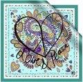 Новое поступление специальный Шелк 100% шелк конфеты цвет уникальный шелковый шарф большой площади sacrves шарф мыс любовь и мир
