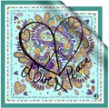 New arrival special Silk 100% silk candy color unique silk scarf large square sacrves scarf cape love and peace