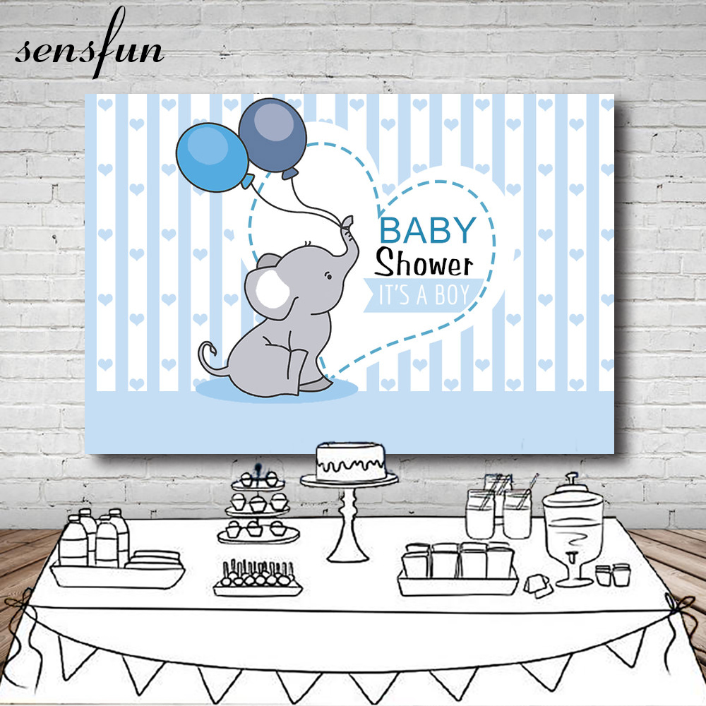 Trustful Neoback Cute Little Elephant Backdrop Pink Elephant Baby Shower Party Background Photography Dessert Table Decorations Props Camera & Photo