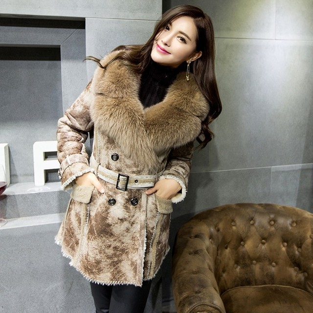 Aliexpress.com : Buy Natural Sheepskin Double faced fur Coat ...