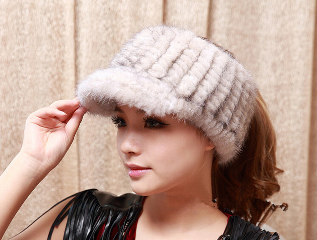 474682dc346ca HA124 Luxury autumn winter warm fashion brim baseball hat