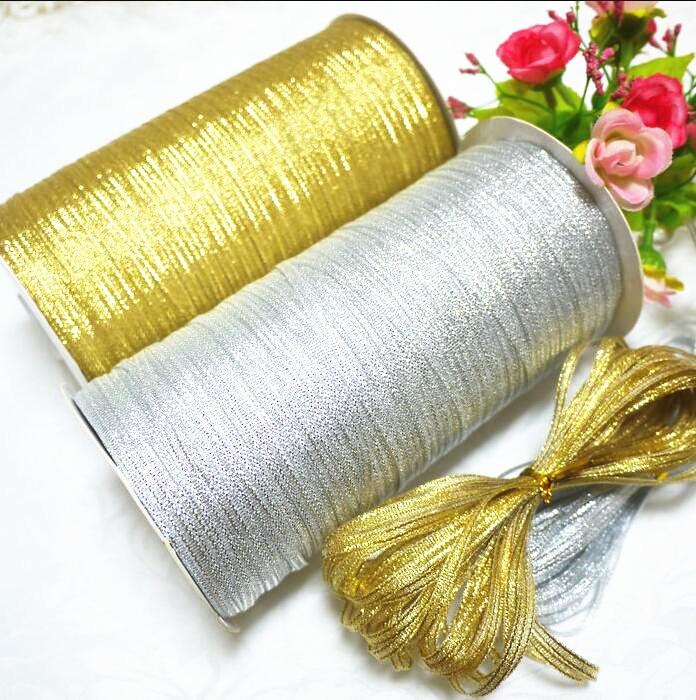 Блестящая упаковочная лента 3мм шириной для подарков на свадебные вечеринки, Рождество. Швейные аксессуары, лента, украшение 40Y