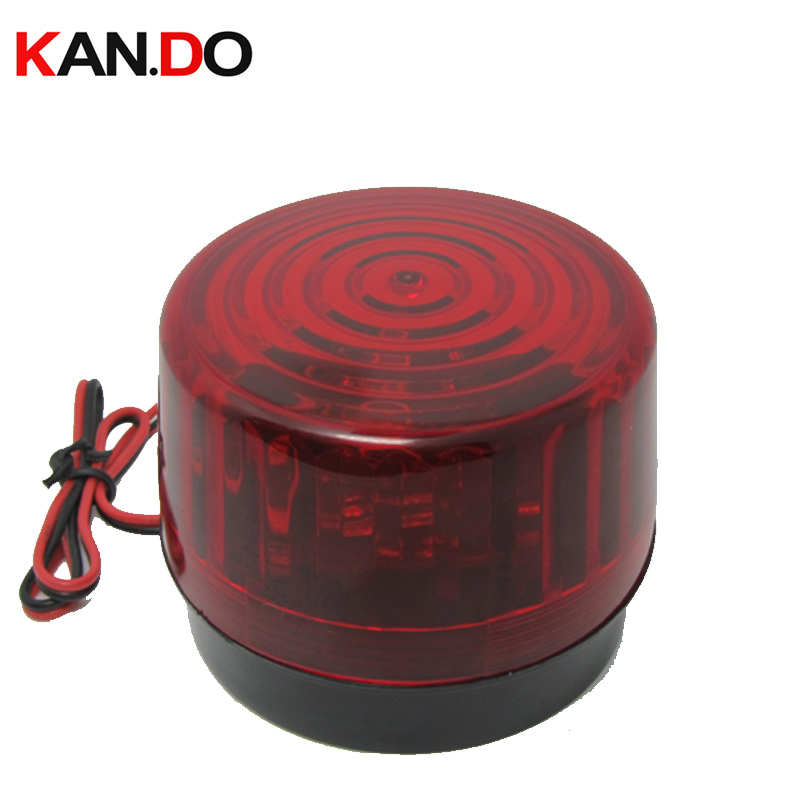 12V 120mA Indicator Signal Llight Red Wired Flashing Light Alarm Strobe Flashing LED Warning Light FIRE Siren For Security
