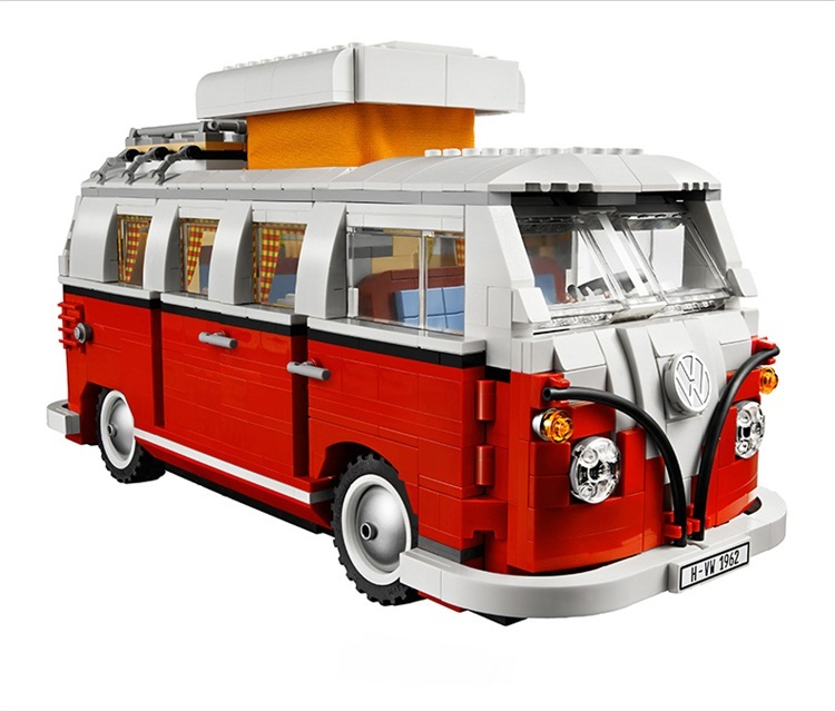 CHINA BRAND L001 Educational Toys for children DIY Building Blocks Volkswagen T1 Camper Van 10220 Compatible with Lego china brand l0090 educational toys for children diy building blocks 00090 compatible with lego