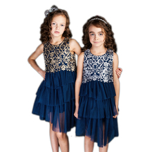 Kids Dresses For Girls 2017 Embroidered Summer Dress Party Wedding Princess Clothes