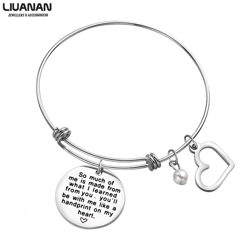 3687ef3a655dd Inspirational motivational LOVE Memorial Thankful Friendship Meaningful  Message Charm Bracelets Jewelry Women Girls