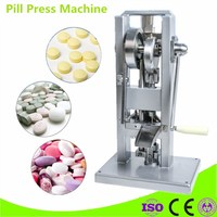 TDP 0 Manual Tablet Press Machine Push Type Laboratory Medicine Herbal Powders Tableting Machine Pill Stamping