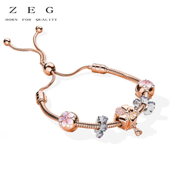 цена на ZEG New High Quality Logo Golden Series Bracelet Free Package Manufacturers Wholesale Free Package Mail
