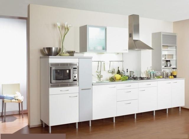 Brillo moderno mueble de cocina pequeña en Gabinetes de cocina de ...