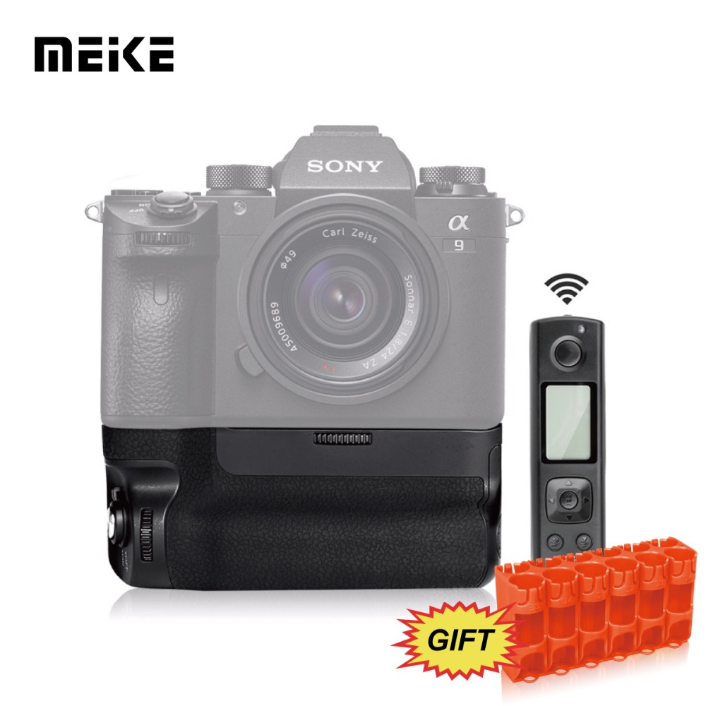 Meike MK-A9 Pro Battery Grip Built-in 2.4GHz Remote Controller to Control shooting Vertical-shooting Function for Sony A9 A7RIII meike mk 760d pro built in 2 4g wireless control battery grip suit for canon 750d 760d as bg e18
