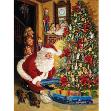 christmas tree train needlework diy 5d diamond painting embroidery kits mosaic pattern rhinestone painting 3d cross stitch art - Train For Christmas Tree
