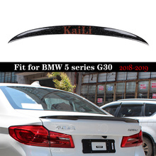 For BMW 5 Series G30 F90 M5 2018+ New Forged Carbon Rear Trunk P Style Spoiler Boot Tail Lip