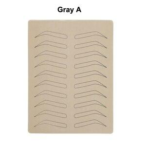 Image 2 - 10 adet kauçuk uygulama cilt sahte yanlış kaşları boş cilt Pigment ücretsiz Microblading kalıcı makyaj için dövme eğitimi öğrenmek