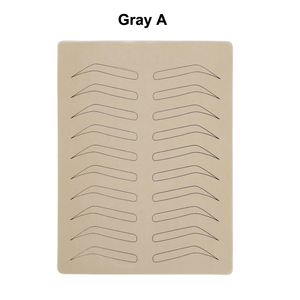 Image 2 - 10PCS גומי עיסוק עור מזויף False גבות ריק עור פיגמנט משלוח עבור Microblading קבוע איפור קעקוע אימון ללמוד