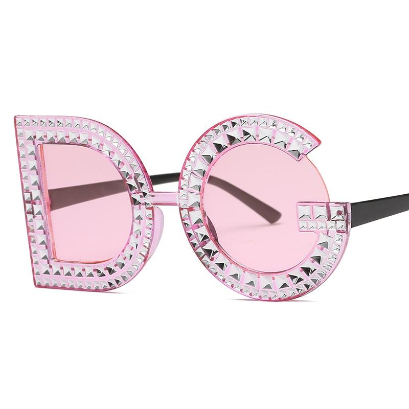 886dd681278 Dropwow Fashion Diamond D G Round Sunglasses Women 2018 Luxury Brand ...