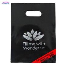 Bolsa plástica de regalo para compras con asa impresa personalizada para embalaje de tela