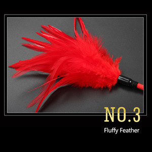 Image 4 - 1pc 54cm Flirting sex Whip Bird feather tickler soft feather whip Red Sex Toy Products for Couple BDSM Adult Game Play Women Men